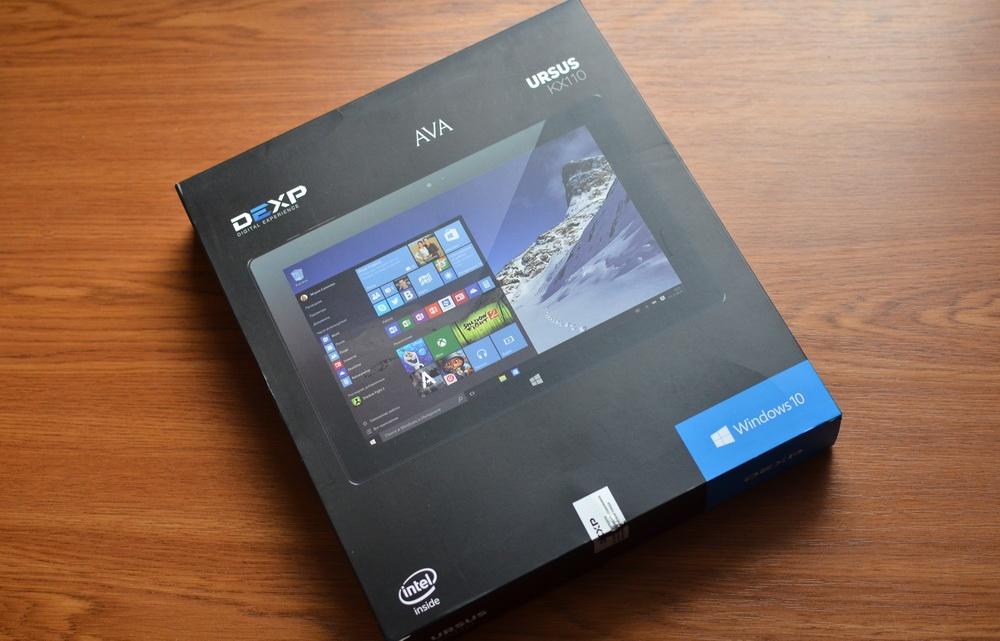 Планшет-трансформер с предустановленной Windows 10: обзор «трансформера» DEXP Ursus KX110-KX110i на Intel® Atom™ - 3