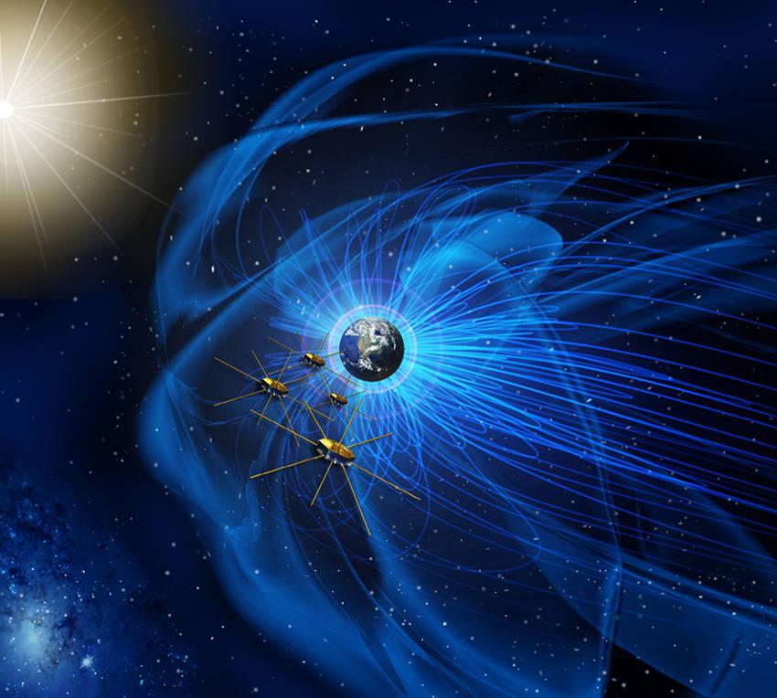 Аппараты NASA по изучению перезамыкания магнитных линий сформировали пирамиду в космосе - 1