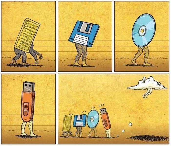 Эволюция носителей информации: о перфокартах, магнитных плёнках и дискетах - 1