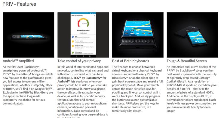 Смартфон BlackBerry Priv будет стоить $750