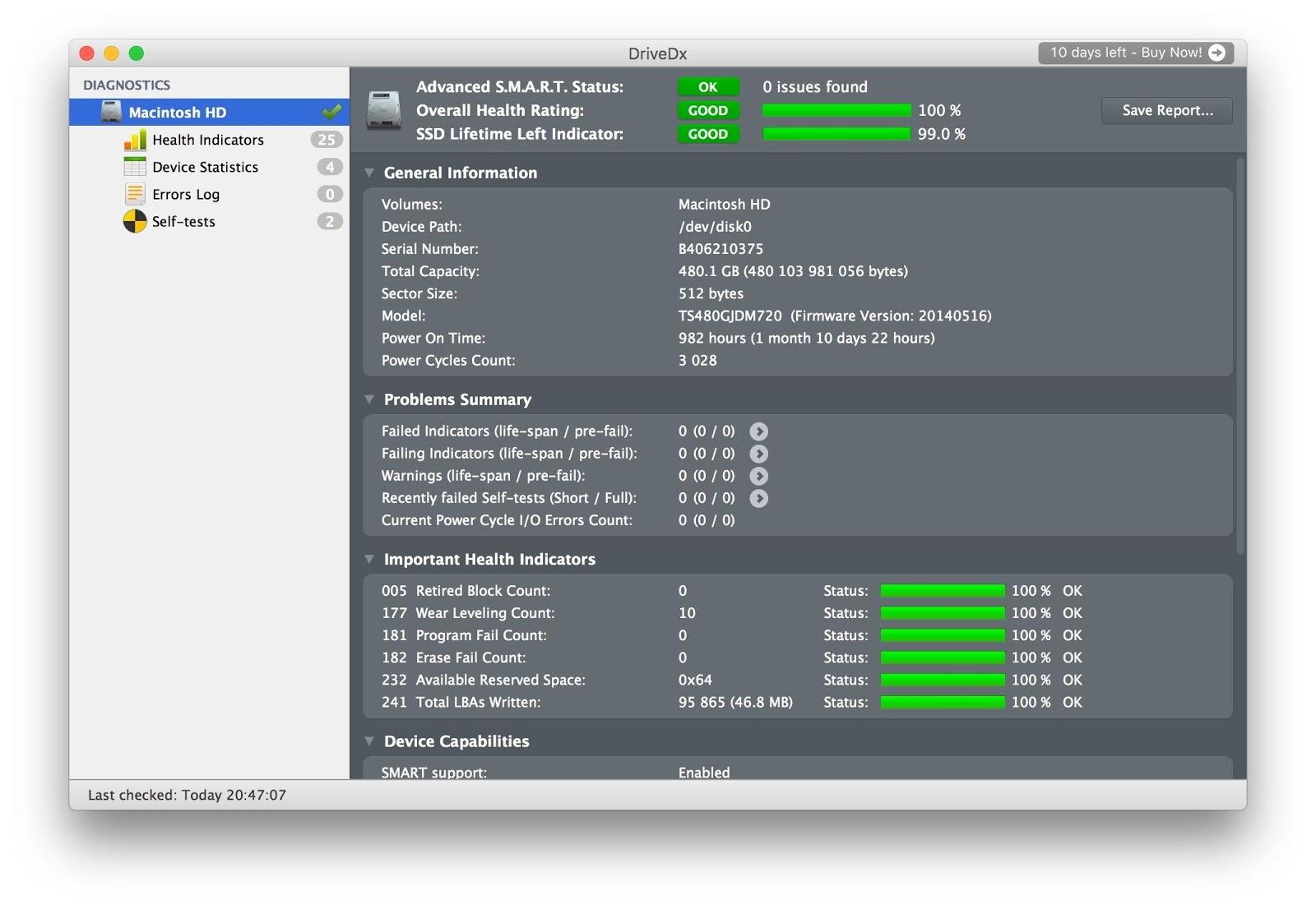 Утилиты для контроля состояния SSD-дисков на Mac - 2