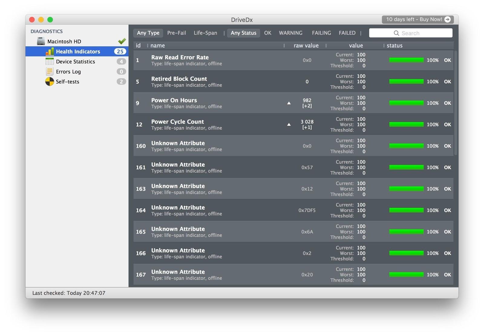 Утилиты для контроля состояния SSD-дисков на Mac - 3