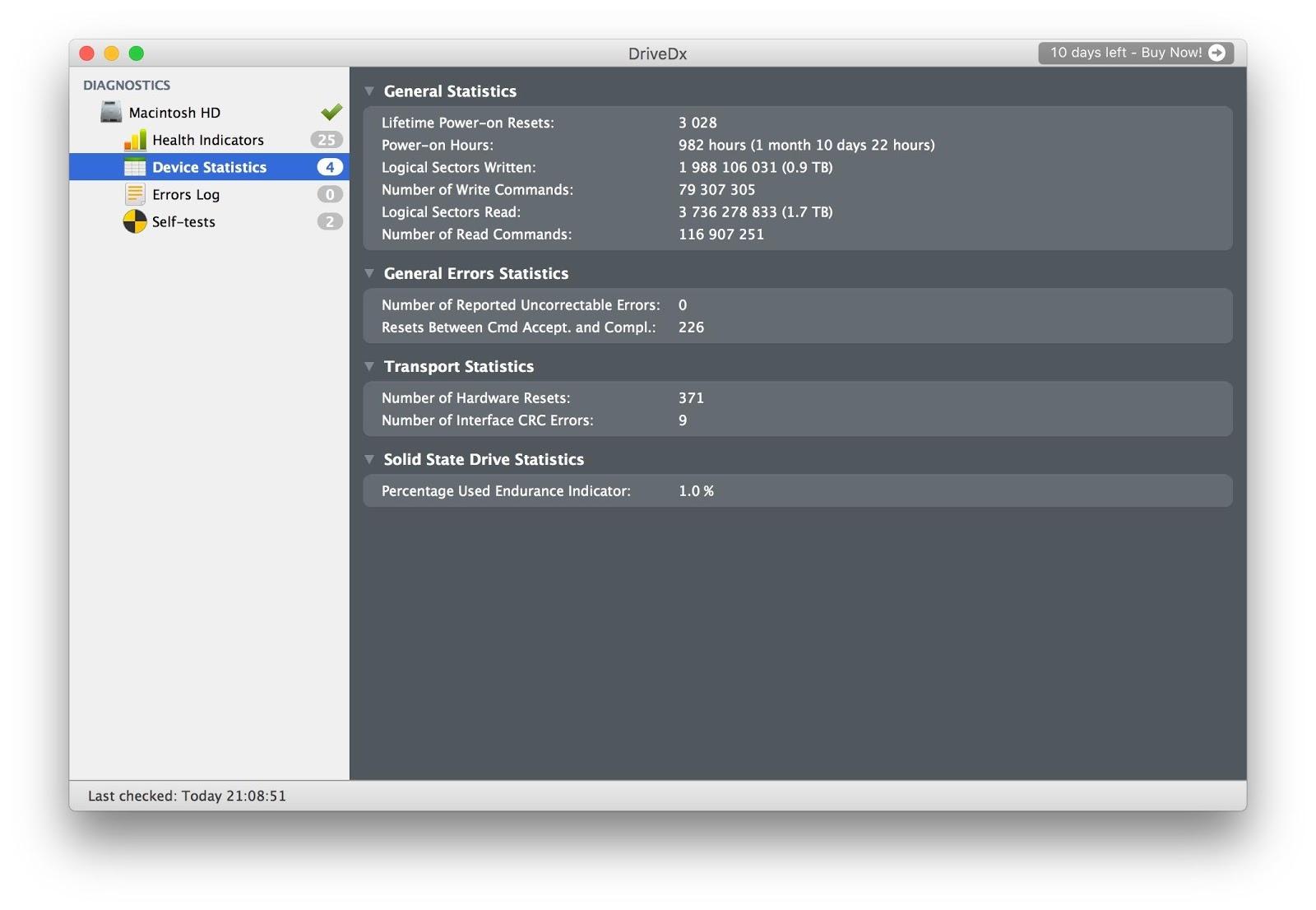 Утилиты для контроля состояния SSD-дисков на Mac - 5