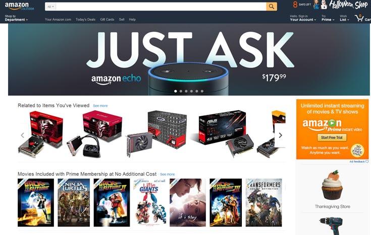 Компания Amazon рассказала о результатах квартала, завершившегося 30 сентября 2015 года