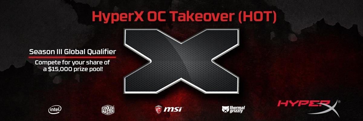 [Информационный пост] HyperX представляет соревнования для оверклокеров HyperX OC Takeover с призовым фондом 15 000 USD - 1