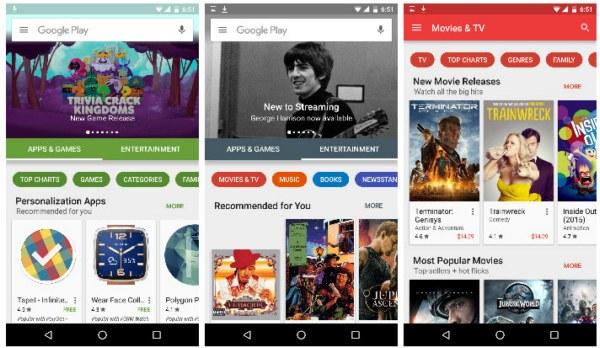 Обновленный Google Play начинает появляться на Android-устройствах