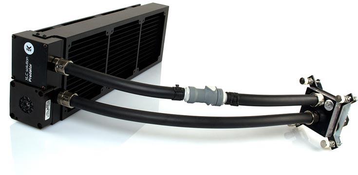 В СВО EK Water Blocks EK-XLC Predator 360 помпа совмещена с радиатором
