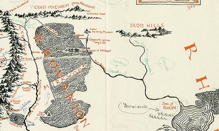 Найдена карта Средиземья с пометками Толкина - 1