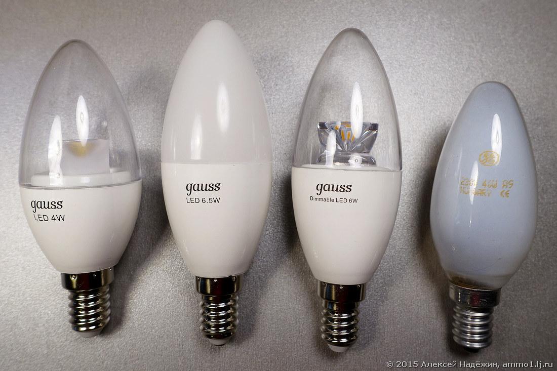 Cветодиодные лампы-свечки Gauss нового поколения - 2