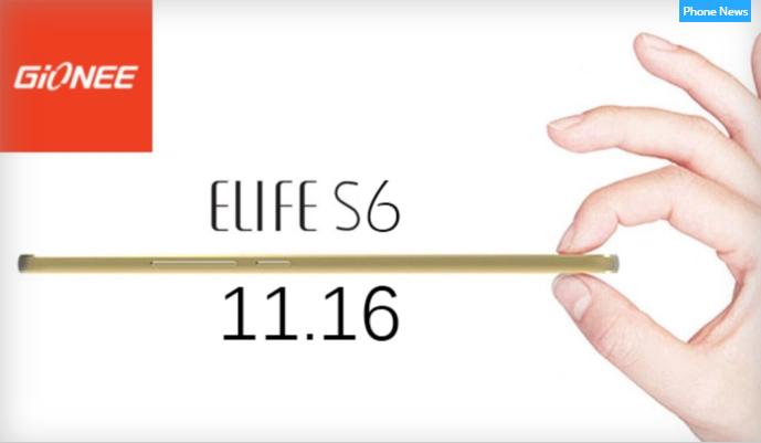 Смартфон Gionee Elife S6 может получит платформу MediaTek MT6753