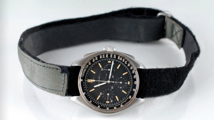Часы хранят Bulova с номером 885104/01 2'509'052 следы пребывания на Луне