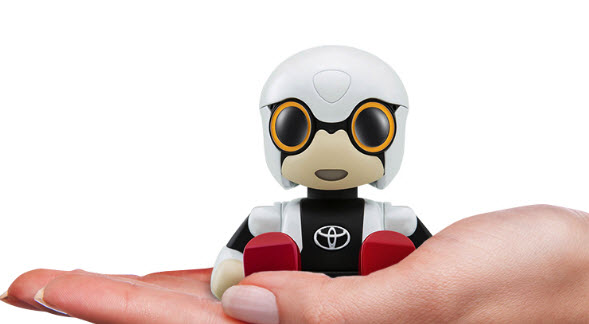 Миниатюрный робот-помощник Toyota Kirobo Mini уместится в подстаканник автомобиля
