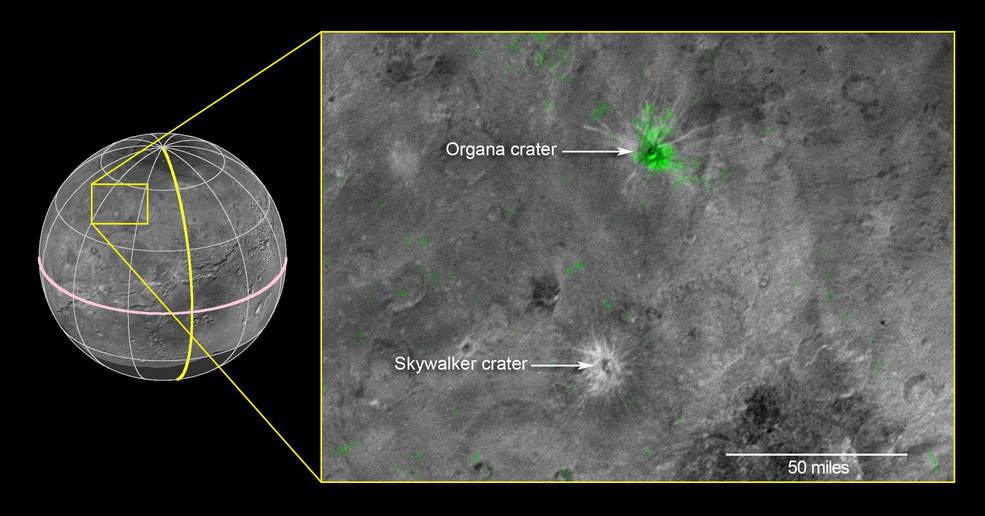 На Хароне обнаружен кратер с очень высоким содержанием аммиака - 2
