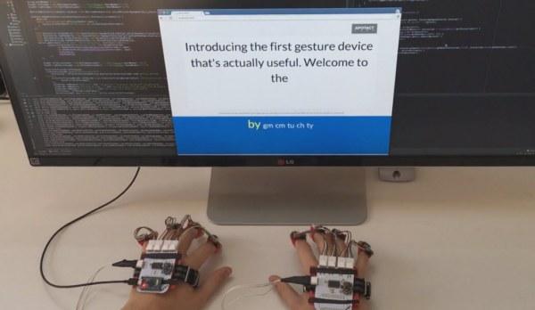 Gest похож на перчатку, которая крепится на ладони и пальцах пользователя, устройство позволяет руке работать более интуитивно