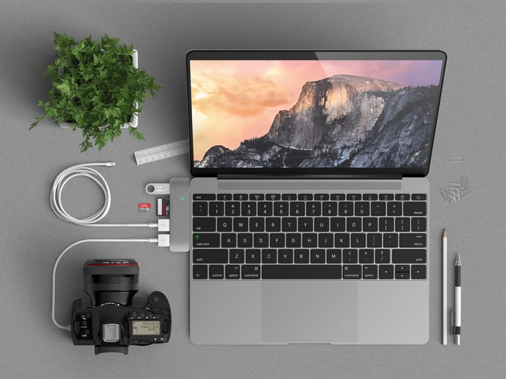 Концентратор Satechi Type-C USB 3.0 3 in 1 Combo Hub ориентирован на ноутбуки Apple