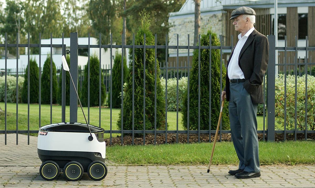 Сооснователи Skype разработали передвигающегося по тротуарам робота-курьера - 1