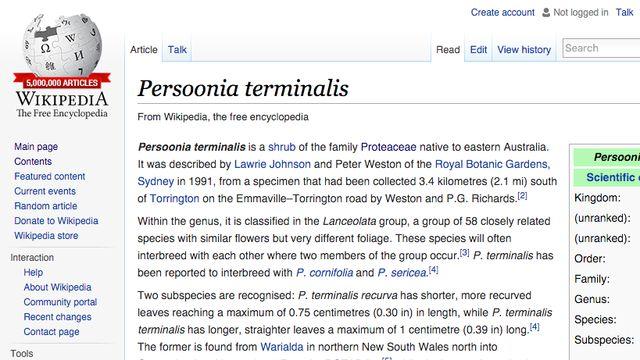 В англоязычной Википедии — 5 миллионов статей - 1
