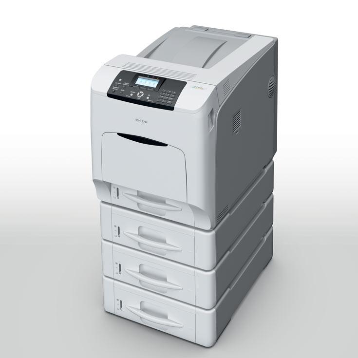 К достоинствам Ricoh SP C440DN относится высокая скорость печати, достигающая 40 страниц в минуту