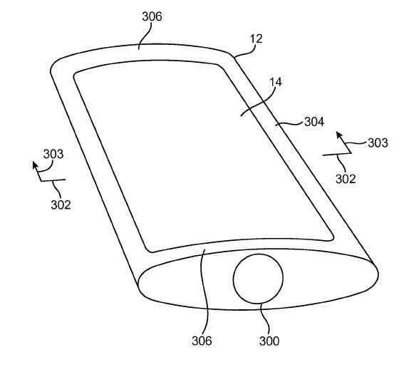 В Apple придумали, что гибкой панели OLED можно придать выпуклую форму