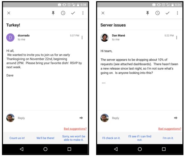 Google Inbox теперь помогает отвечать на e-mail, используя высокие технологии - 1