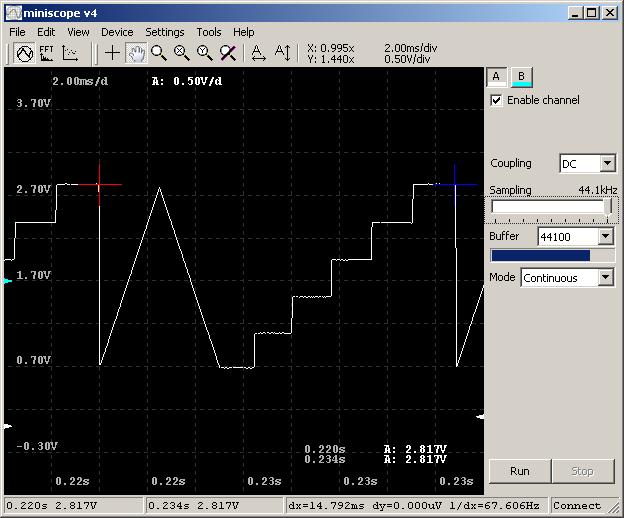 DIY-осциллограф из звуковой карты за $1 - 8
