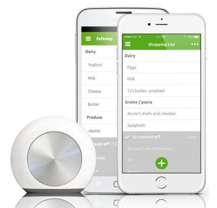Умная кнопка Hiku поможет составить список покупок и заказать товары онлайн