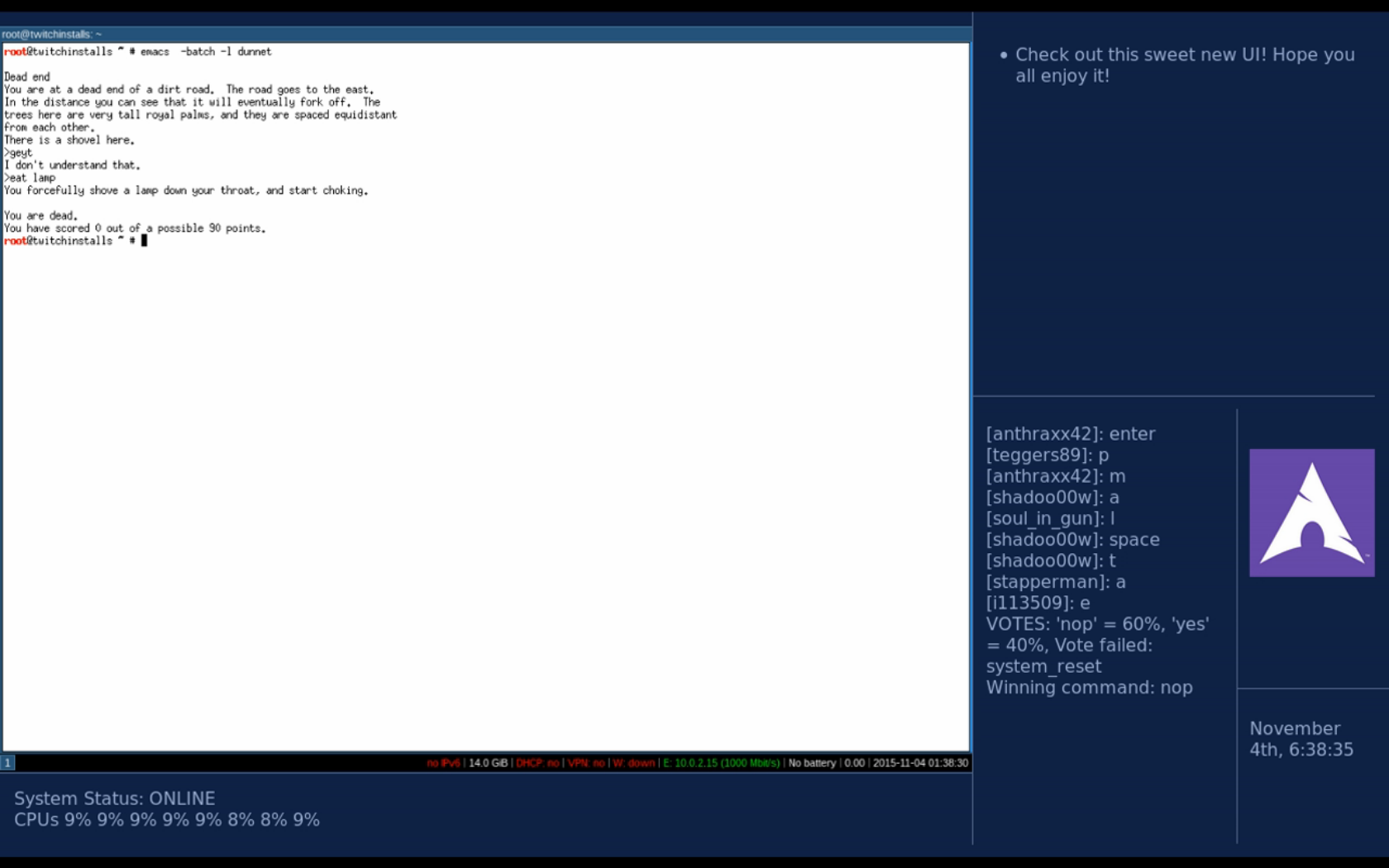 Неделя установки Arch Linux на Twitch - 16