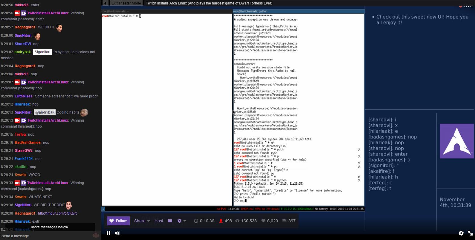 Неделя установки Arch Linux на Twitch - 18
