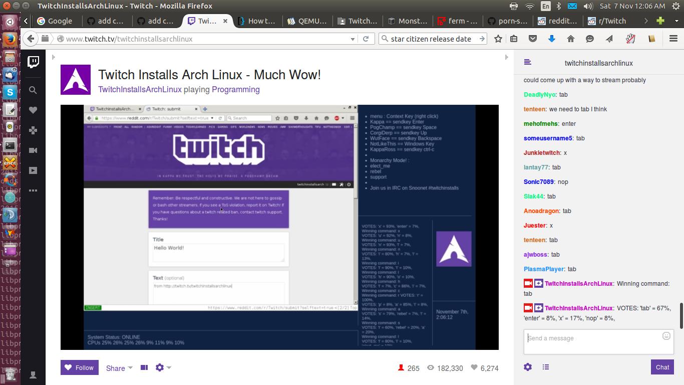 Неделя установки Arch Linux на Twitch - 25