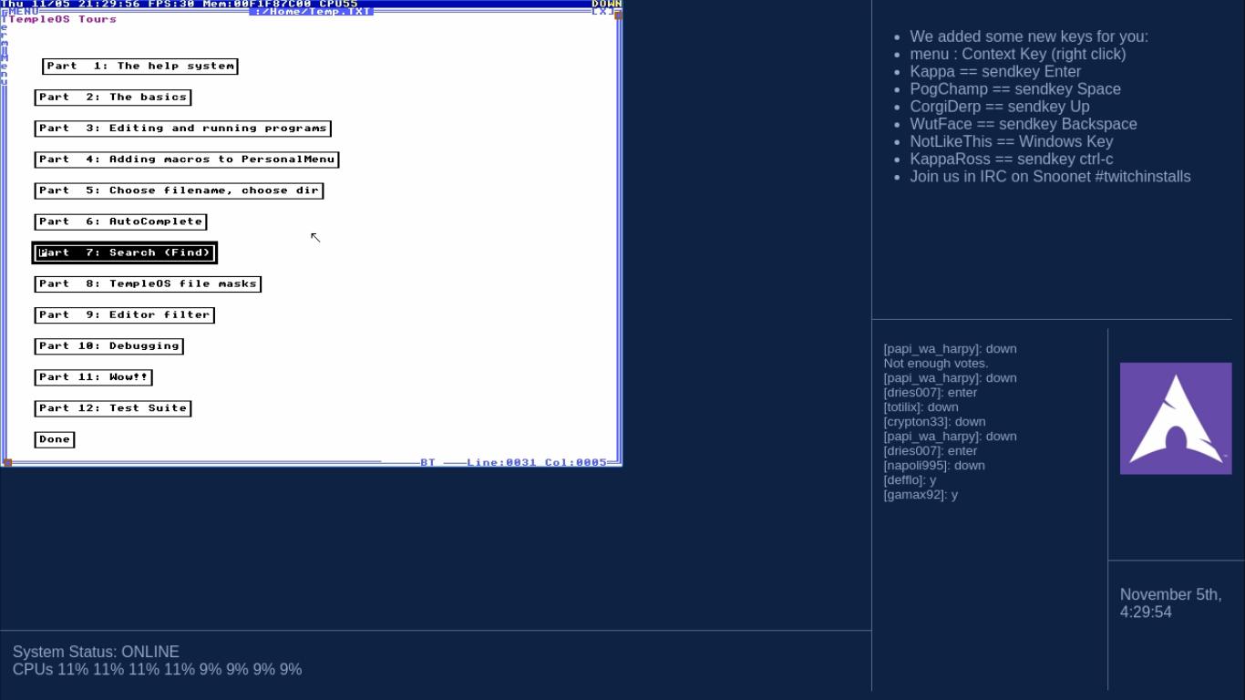 Неделя установки Arch Linux на Twitch - 28