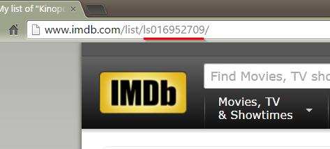 Перенос оценок фильмов с КиноПоиска на IMDB - 8
