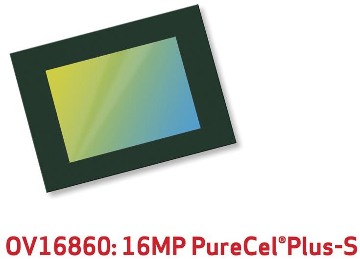 В датчике изображения Omnivision OV16860 нашла применение технология PureCel Plus-S