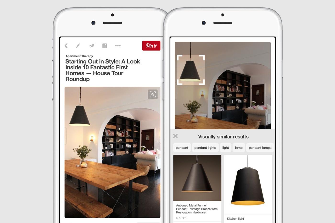 На Pinterest появился визуальный поисковик: объекты на фото теперь можно идентифицировать - 1