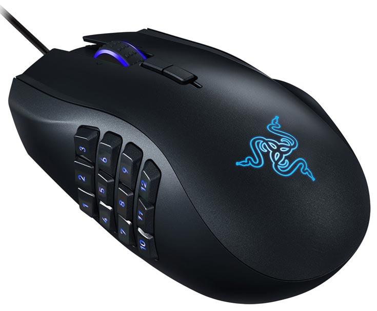 Мышь Razer Naga Chroma имеет отклоняемое колесико и 19 кнопок