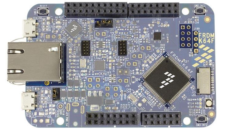 Плата FRDM-K64F предназначена для разработчиков, использующих микроконтроллеры Kinetis K64, K63 и K24