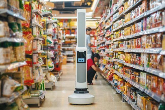 Робот Tally предназначен для контроля цены и наличия товара на прилавках