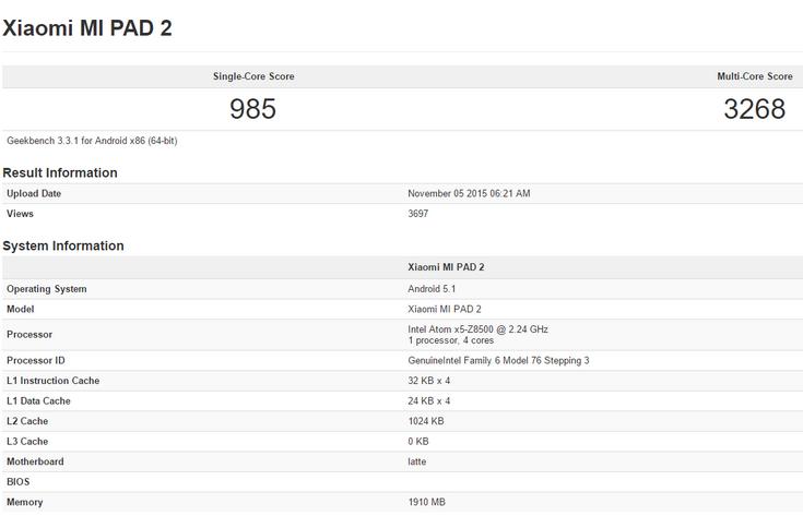 Планшет Xiaomi Mi Pad 2 действительно будет основан на решении Intel