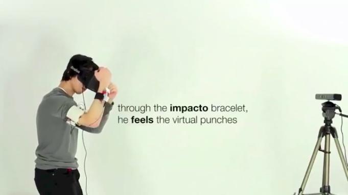 Виртуальная реальность будет драться: концепт Impacto передает физические ощущения в VR - 1