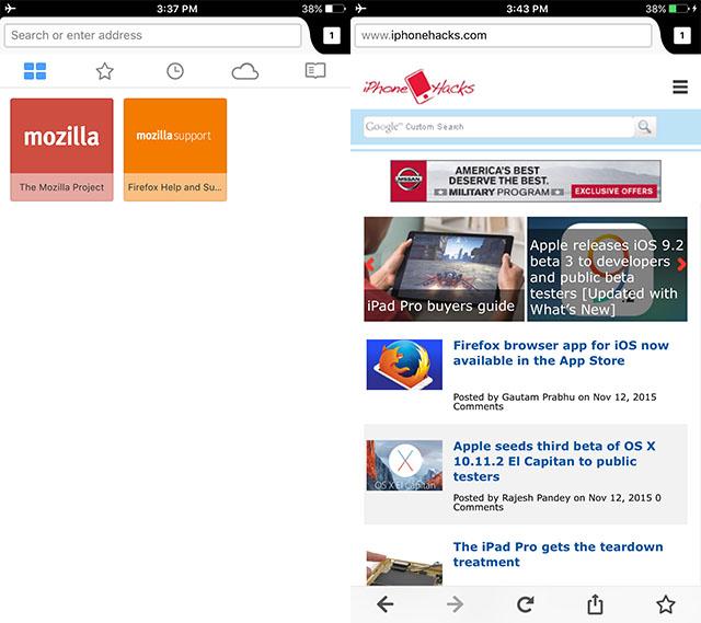 Firefox и iOS — разве это совместимо? Оказалось, что да - 2