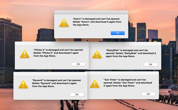 Из-за просроченного сертификата безопасности пользователям Mac пришлось переустановить приложения из App Store