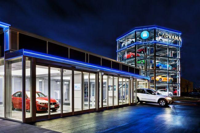 Компания Carvana представила торговый автомат по продаже автомобилей