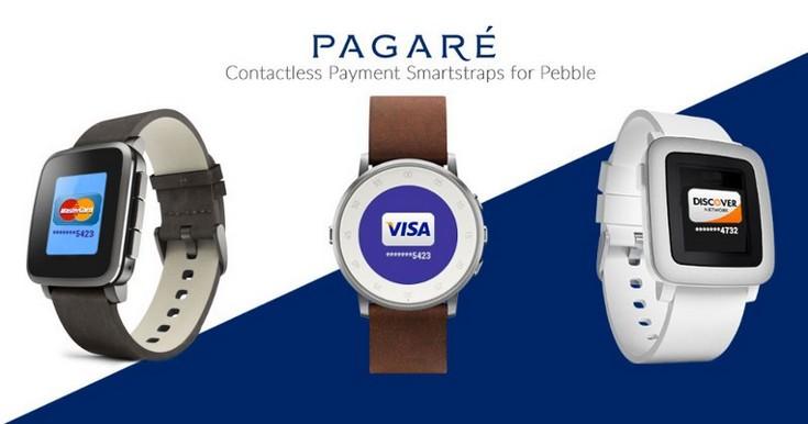 Ремешки Pagarу для часов Pebble оснащены модулем NFC