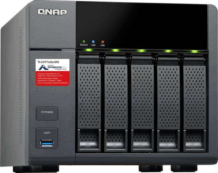 Хранилище уже доступно для заказа в вариантах TS-531P-2G и TS-531P-8G