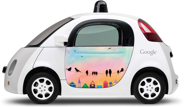 Робомобили Google украсили картинами