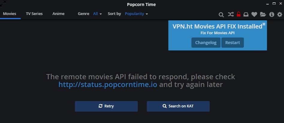 Popcorn Time ушел, но обещал вернуться. Ах, нет, уже возвращается - 2