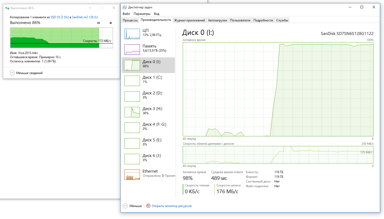SSD M.2 – Реалии стандарта и обзор доступной модели Sandisk X300 - 18