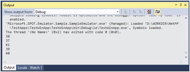 Начало работы с .NET Micro Framework 4.4 - 14