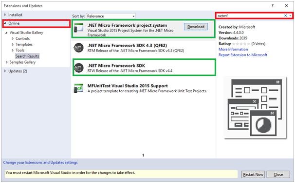 Начало работы с .NET Micro Framework 4.4 - 5