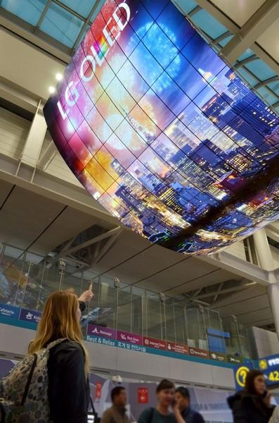 LG создала самый большой экран OLED