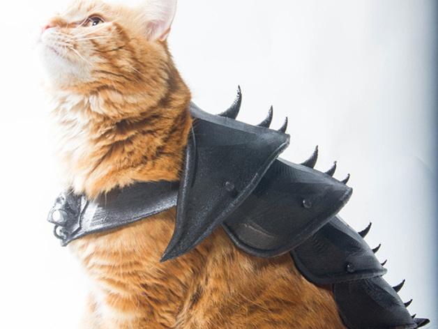 Эффектная броня для кота, созданная на 3D-принтере - 2